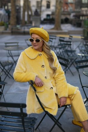Atlantic-Pacific Blair Eadie Yellow Outfit Faux Fur