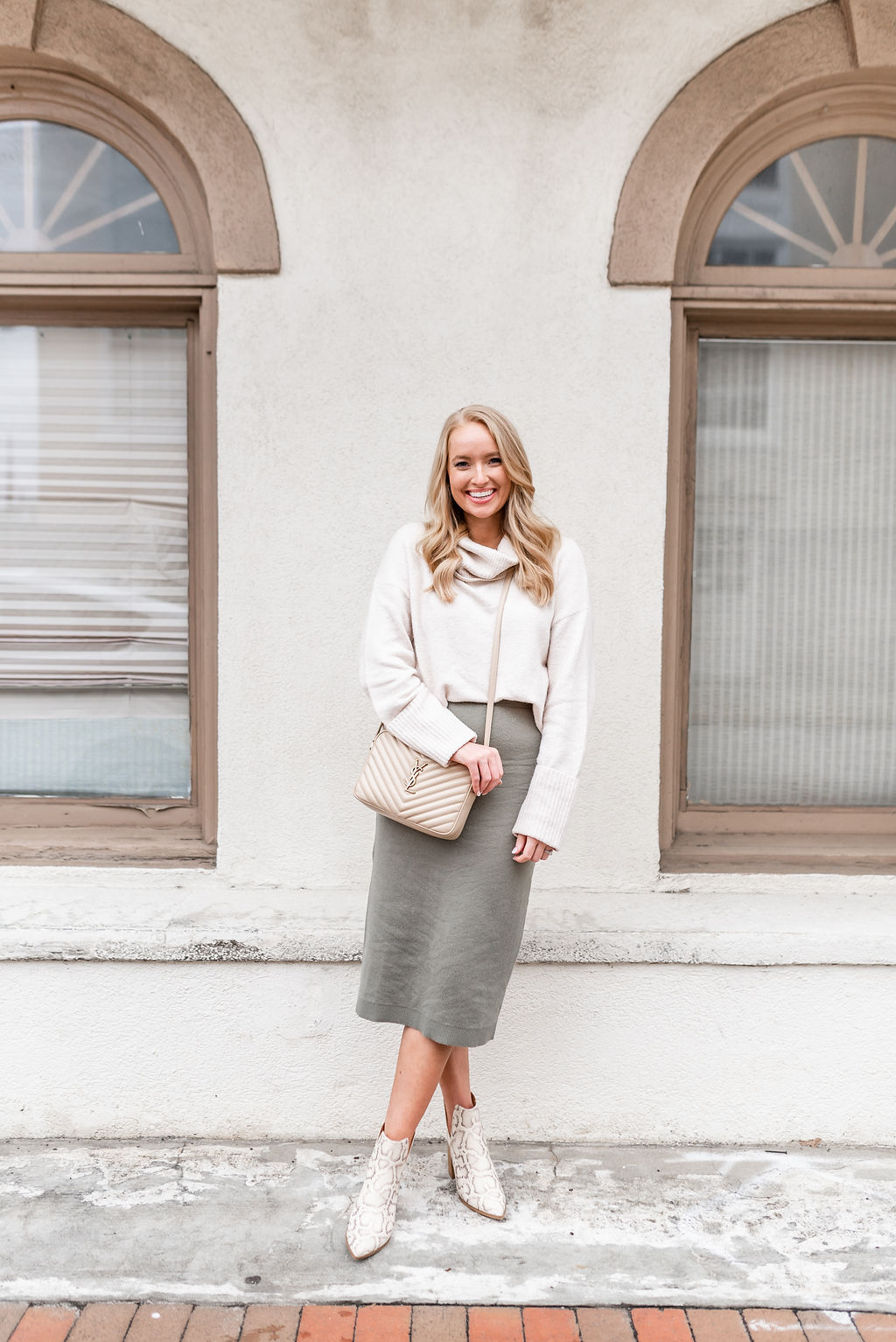 How to Style a Sweater Midi Skirt