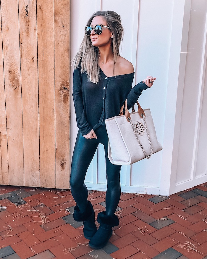 urban outfitters black thermal cardigan