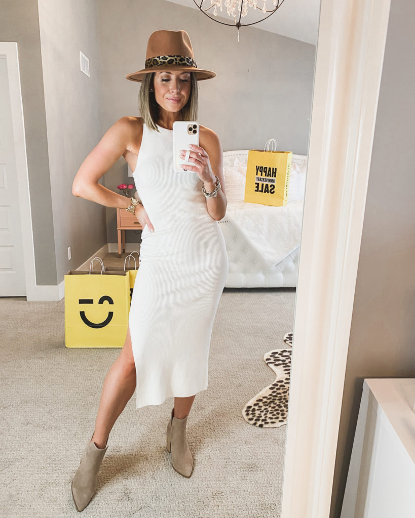 nordstrom anniversary sale leith white midi dress