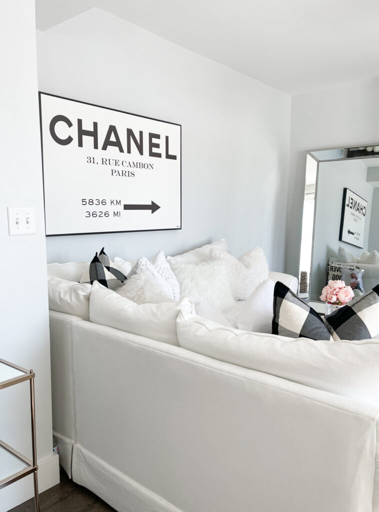 chanel wall art road sign