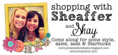 Hurry fast!  A HUGE Shopping with Sheaffer and Shay!