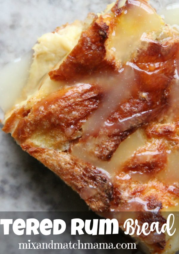 Hot Buttered Rum Bread Pudding