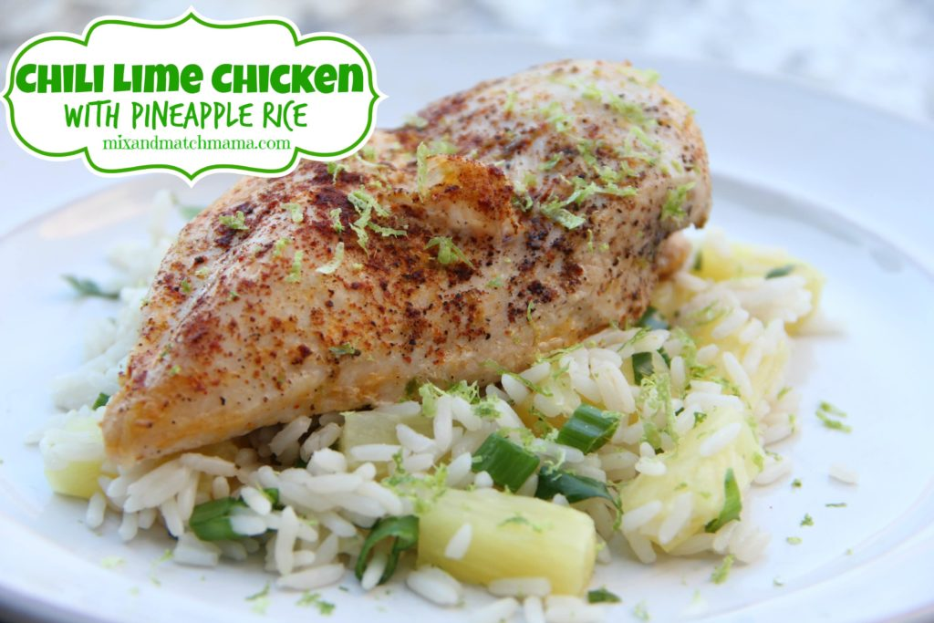 Chili Lime Chicken With Pineapple Rice Recipe, Chili Lime Chicken with Pineapple Rice