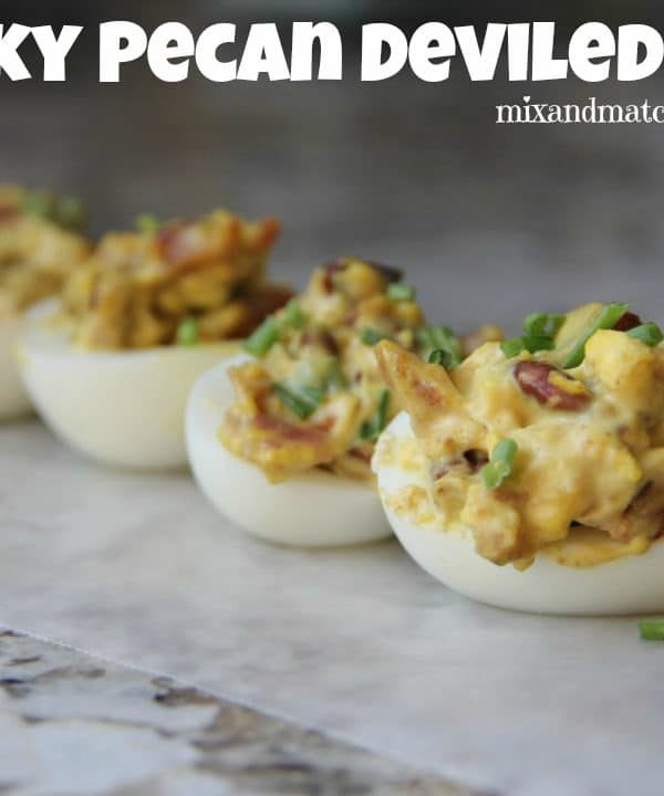 Smoky Pecan Deviled Eggs