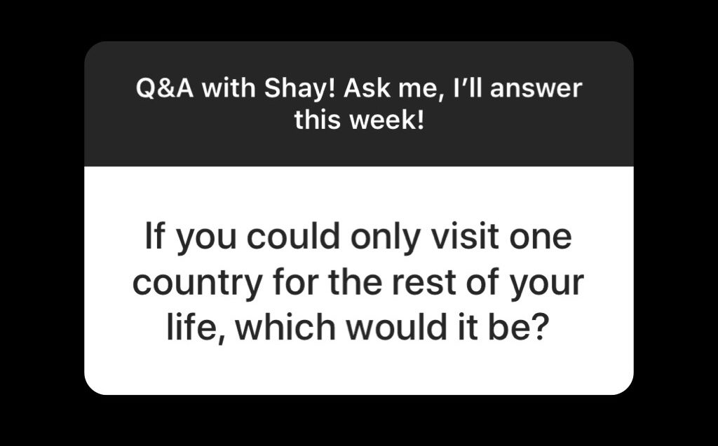 , Q&A with Shay!