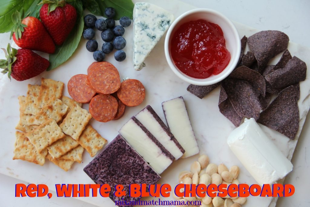 , Red, White & Blue Cheeseboard