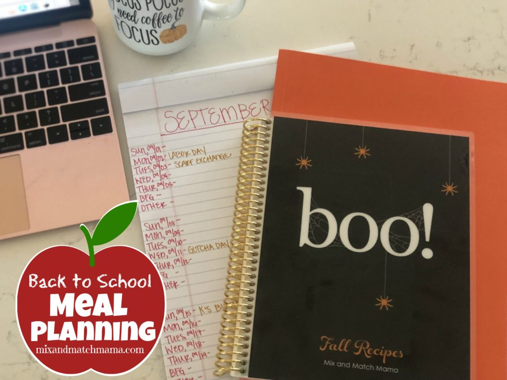 , Back to School MEAL PLANNING Routine!