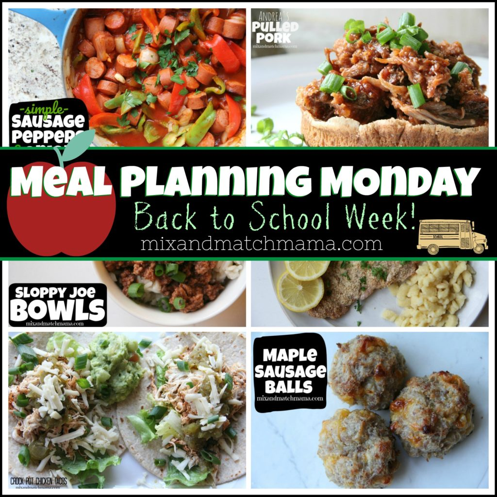 , Back to School Meal Planning!