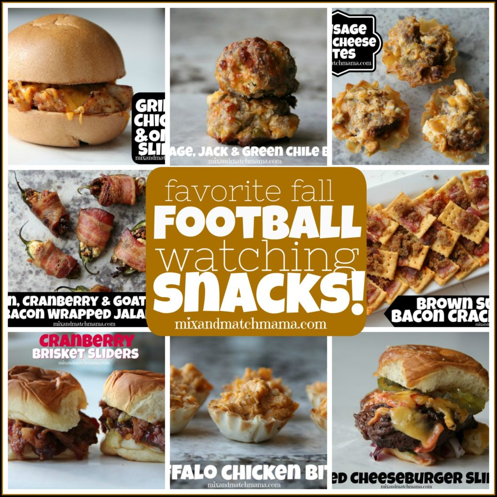 , Favorite Fall Football Watching Snacks!