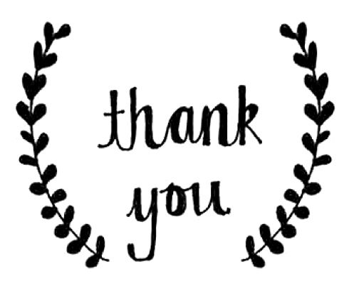 #free #handdrawn 'thank you' graphic giveaway via emmy blog