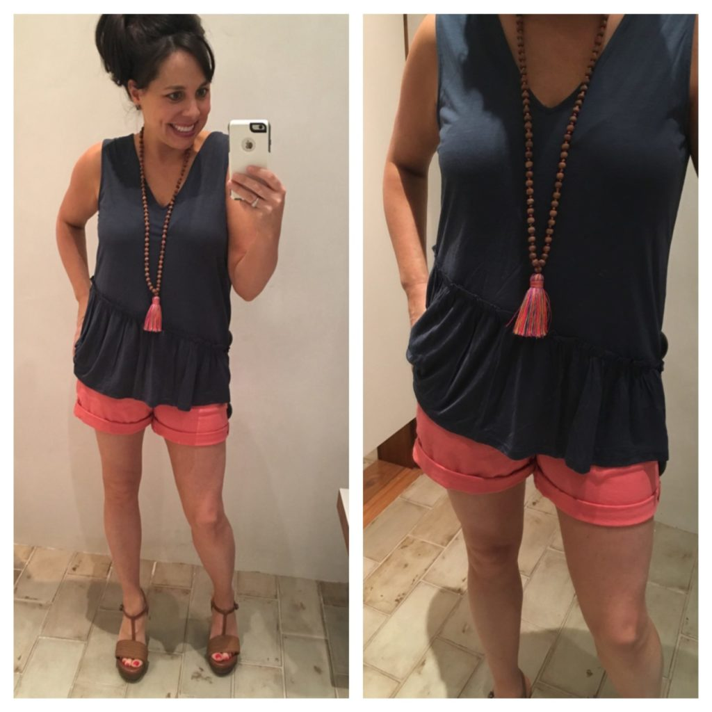 anthropologie pilcro shorts and tee
