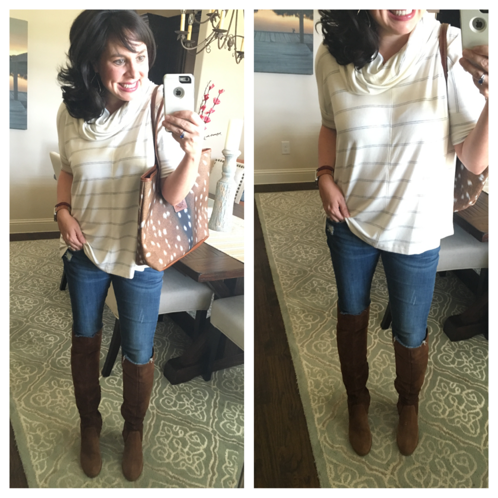 lou and grey signature soft cowl neck top