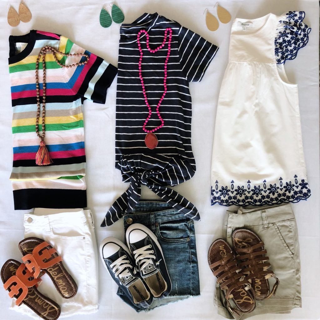 mix and match outfits for spring summer