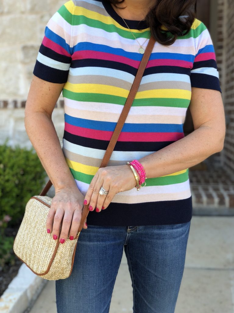 Nordstrom gift ideas striped sweater and accessories