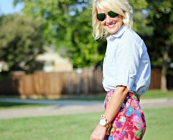Outfit Inspiration   Pinstripes & Floral