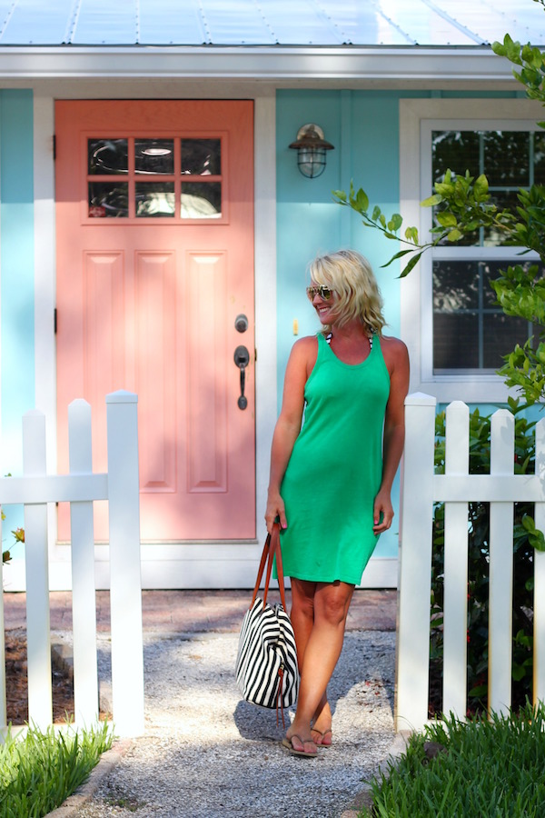 green tank cover up dress for beach weekend