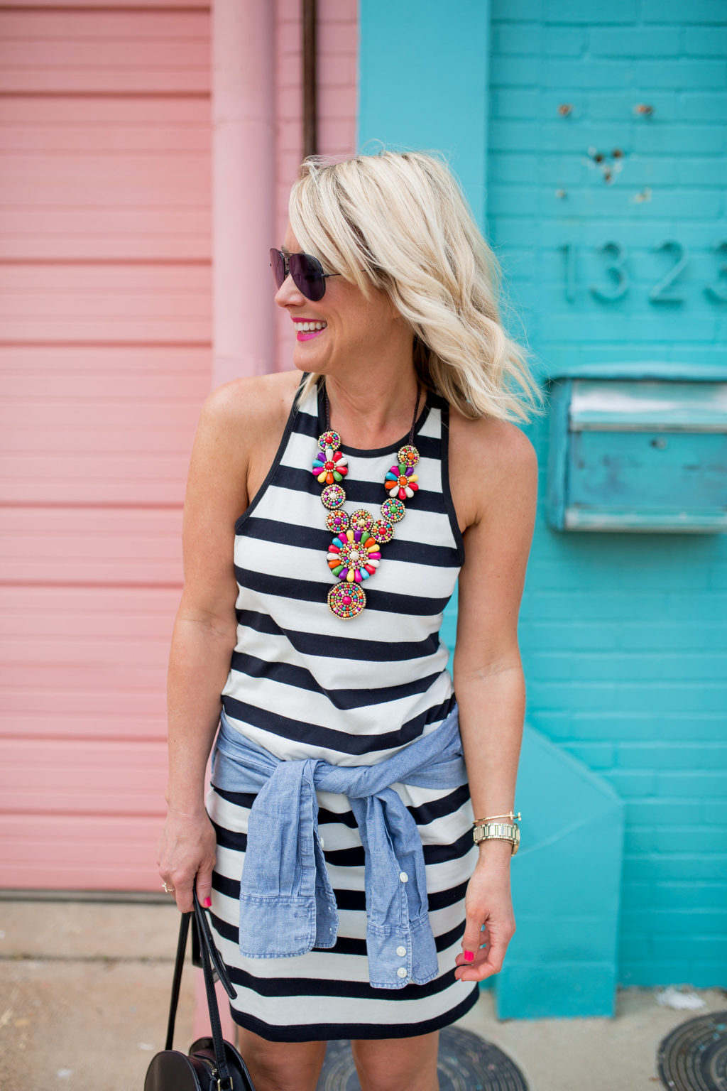 striped racerback summer outfit
