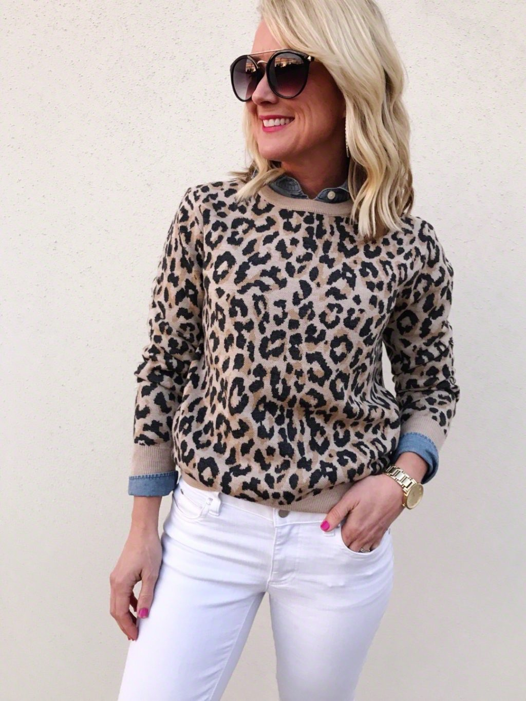 leopard sweater outfit