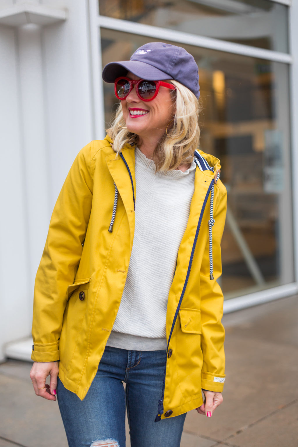 joules yellow rain jacket red hunter boots