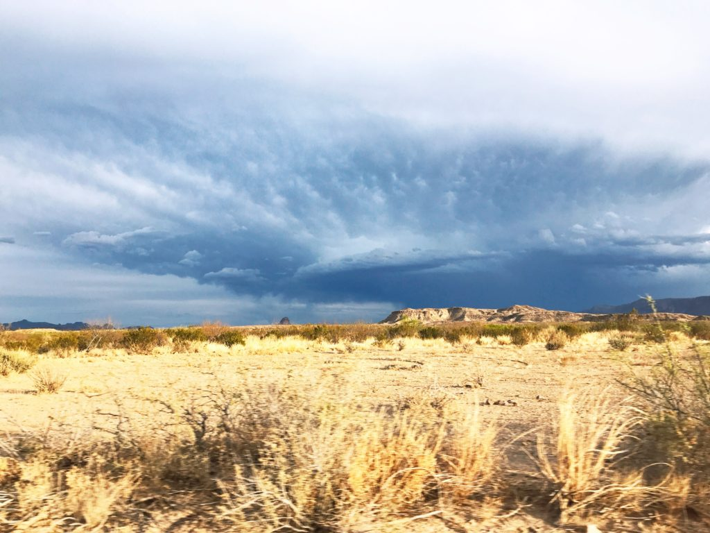 storm in big bend national park texas