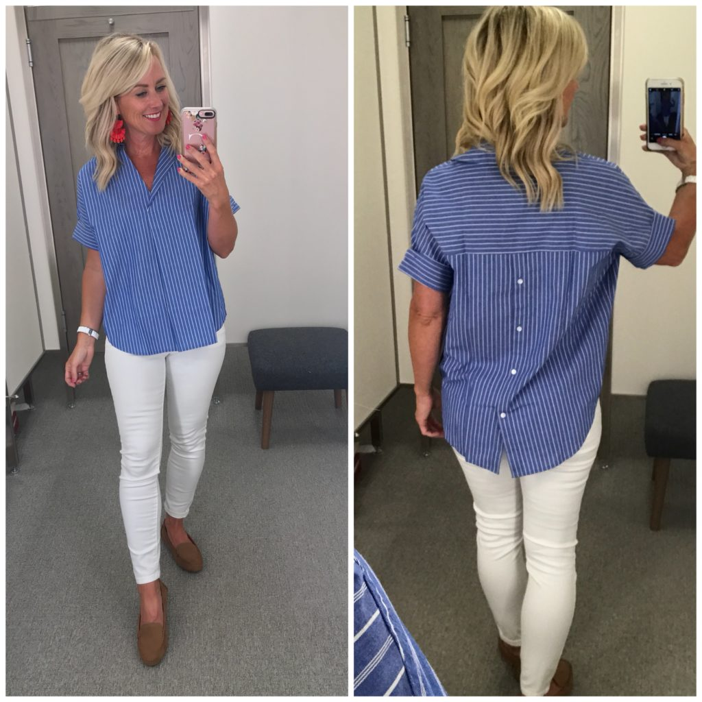 madewell courier stripe button back shirt nordstrom anniversary sale